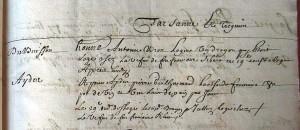 logement d'une compagnie de dragons du régiment de Pinsonnel - 1679 dans archives de Hauterives detail-300x130