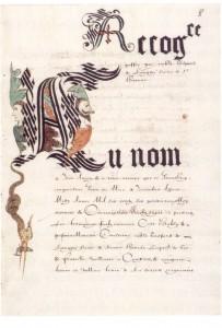 Terriers et parcellaires, Convocation du ban et l'arrière ban dans Articles thématiques terrier-antoine-d-hostun1-203x300